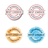 Badge Best choice retor Stock Photos