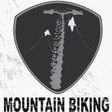 Badge biking design. Illustration of vintage bicycle badge royalty free illustration