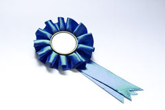 Badge. Blue badge isolated on white whit space to put your text royalty free stock photos