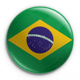 Badge - Brazilian flag. 3d rendering of a badge with the Brazilian flag Royalty Free Stock Image