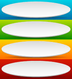 Badge, button, banner set in 4 bright color with slight 3d effec Royalty Free Stock Photography