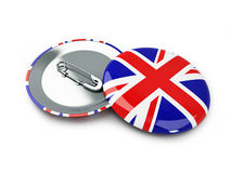 Badge button United Kingdom flag background Royalty Free Stock Photography