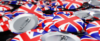 Badge button United Kingdom flag Illustrations background Royalty Free Stock Photo