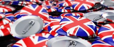 Badge button United Kingdom flag Illustrations background Royalty Free Stock Photo