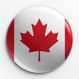 Badge - Canadian flag. 3d rendering of a badge with the Canadian flag Stock Images