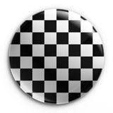 Badge - Checkered flag Royalty Free Stock Photography