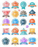Badge colour set. Tag label collection simply. Can use for promotion and product guaranteed Stock Photography