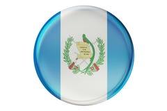 Badge con la bandera de Guatemala, representación 3D Fotografía de archivo libre de regalías