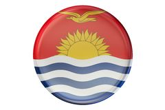 Badge con la bandiera del Kiribati, la rappresentazione 3D royalty illustrazione gratis