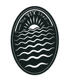 Badge concept:The Sea Shell Royalty Free Stock Images