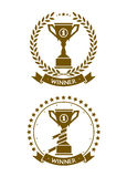 Badge cup symbol of the winner Royalty Free Stock Photography