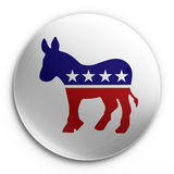Badge - democratic. 3d rendering of a badge with the democratic logo Royalty Free Stock Photography