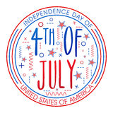 Badge design for American Independence Day. Royalty Free Stock Photo