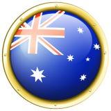 Badge design for Australia flag Royalty Free Stock Image
