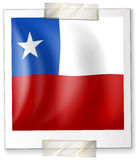 Badge design for Chile flag in square shape Stock Photography