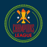 Badge design for Cricket Champions League. Stock Photos