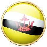 Badge design for flag of Brunei Stock Photo