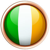 Badge design for flag of Ireland Stock Photo