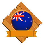 Badge design for flag of New Zealand Stock Photo
