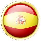 Badge design for flag of Spain Stock Photos