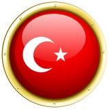 Badge design for flag of Turkey Stock Images