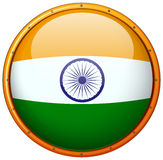 Badge design for India flag Stock Images