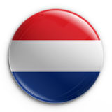 Badge - Dutch flag. 3d rendering of a badge with the Dutch flag vector illustration