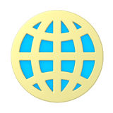 Badge - the Earth royalty free stock images