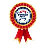 Badge el cuarto del Día de la Independencia de julio Fotografía de archivo