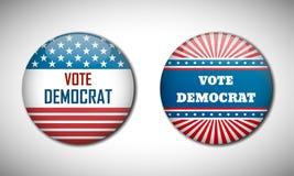 Badge election campaign 2016. Vote Democrat. Royalty Free Stock Photos