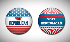 Badge election campaign 2016. Vote Republican. Royalty Free Stock Photos