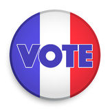 Badge of Election 2017 in France. Royalty Free Stock Photo