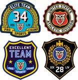 Badge emblem shield Stock Image