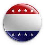 Badge - empty. 3d rendering of a badge for the 2008 presidential election, empty so your own text can be added Stock Photo