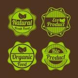 Badge, etichetta ed autoadesivo per il negozio di alimento Fotografie Stock