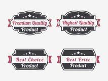 Badge, etichetta o autoadesivo per il prodotto di qualità premio Immagine Stock Libera da Diritti