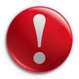Badge - Exclamation point Royalty Free Stock Photo
