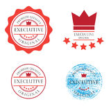 Badge Exlcusive crown Royalty Free Stock Photos