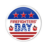 A badge on Firefighters Day Royalty Free Stock Photos