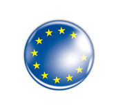 Badge with the flag of Europe Stock Image