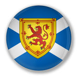 Badge with flag of scotland Royalty Free Stock Images