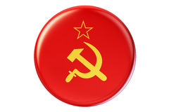 Badge with flag of USSR, 3D rendering Stock Photo