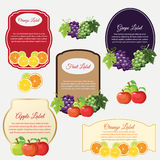Badge fruit. Several badge in fruit theme Stock Images