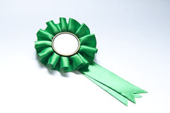Badge G. Green badge isolated on white whit space to put your text royalty free stock image