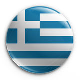 Badge - Greek flag Stock Photo