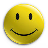 Badge - Happy smiliey Royalty Free Stock Photography