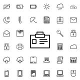 Badge icon. Detailed set of minimalistic icons. Premium graphic design. One of the collection icons for websites, web design, mobi. Le app on colored background Royalty Free Stock Images