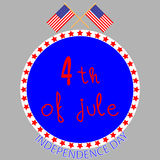 Badge independence day Royalty Free Stock Photo