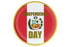 Badge Independence Day in Peru Royalty Free Stock Photography