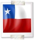 Badge la conception pour le drapeau du Chili dans la forme carrée Photographie stock